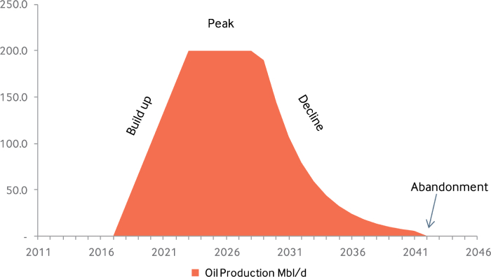 Profile of oil producing field